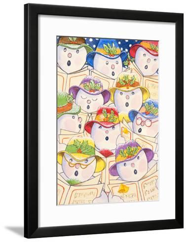 Singing Snowmen, 1997-Tony Todd-Framed Art Print