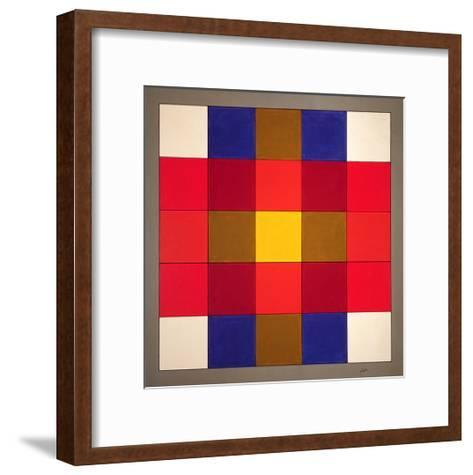Subliminal Yellow Cross, 1986-Peter McClure-Framed Art Print