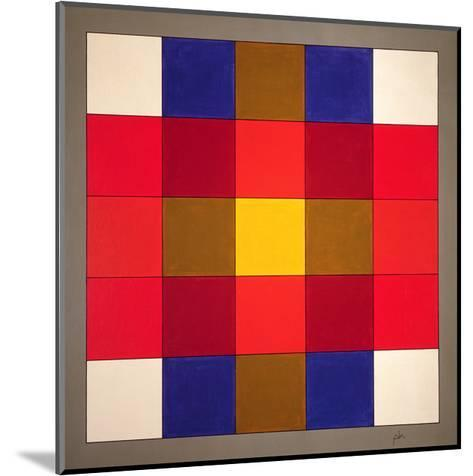 Subliminal Yellow Cross, 1986-Peter McClure-Mounted Giclee Print