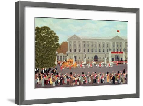 State Coach Leaving Buckingham Palace-Vincent Haddelsey-Framed Art Print