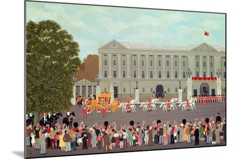 State Coach Leaving Buckingham Palace-Vincent Haddelsey-Mounted Giclee Print