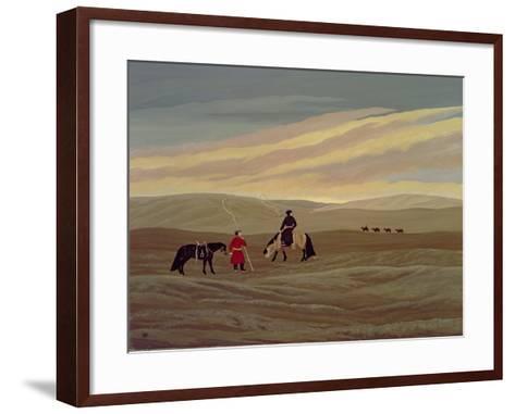 Herding Camel Train, Inner Mongolia-Vincent Haddelsey-Framed Art Print