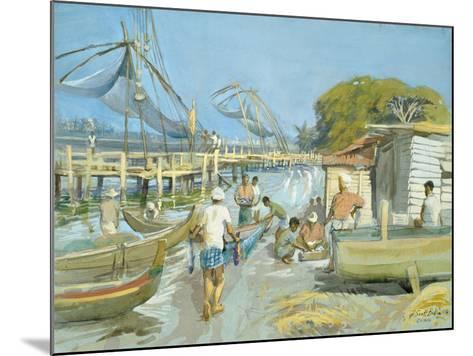Fishing Nets Near Cochin, 1994-Tim Scott Bolton-Mounted Giclee Print