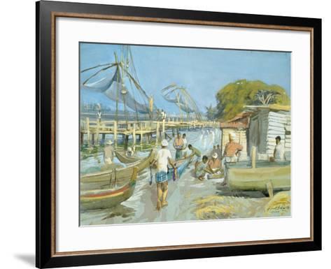 Fishing Nets Near Cochin, 1994-Tim Scott Bolton-Framed Art Print