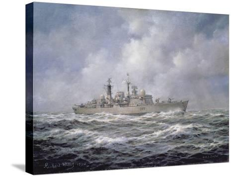 H.M.S. Exeter, Type 42 (Batch 2) Destroyer, 1990-Richard Willis-Stretched Canvas Print