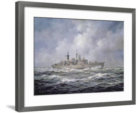 H.M.S. Exeter, Type 42 (Batch 2) Destroyer, 1990-Richard Willis-Framed Art Print