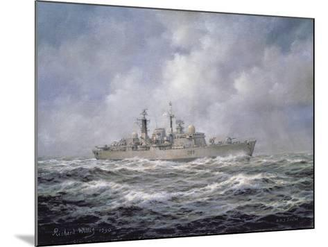 H.M.S. Exeter, Type 42 (Batch 2) Destroyer, 1990-Richard Willis-Mounted Giclee Print