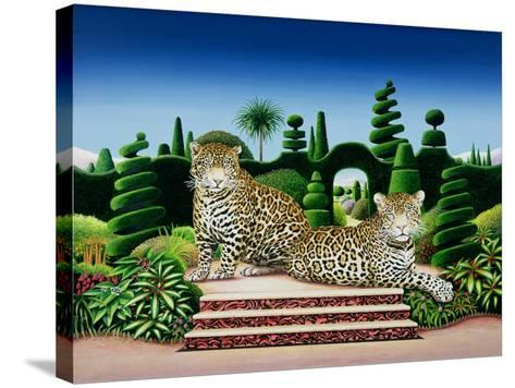 Jaguars in a Garden, 1986-Anthony Southcombe-Stretched Canvas Print