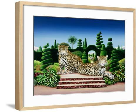 Jaguars in a Garden, 1986-Anthony Southcombe-Framed Art Print
