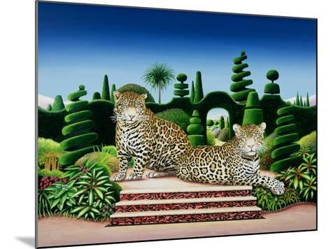 Jaguars in a Garden, 1986-Anthony Southcombe-Mounted Giclee Print