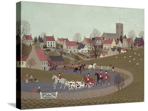 The Hunt Riding Through the Village, 1986-Vincent Haddelsey-Stretched Canvas Print