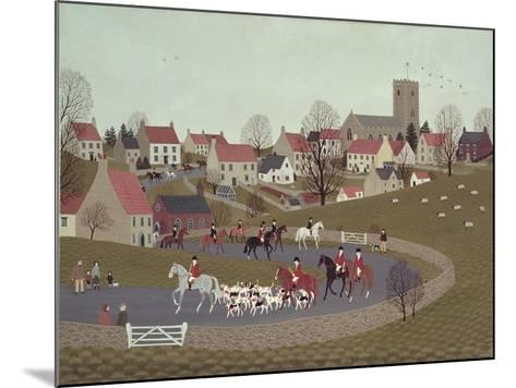 The Hunt Riding Through the Village, 1986-Vincent Haddelsey-Mounted Giclee Print