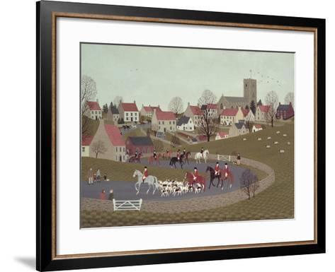 The Hunt Riding Through the Village, 1986-Vincent Haddelsey-Framed Art Print