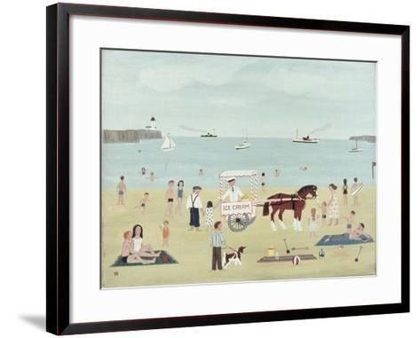 Selling Ice-Creams-Vincent Haddelsey-Framed Art Print