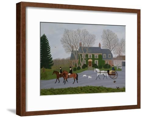 Setting Out for the Meet-Vincent Haddelsey-Framed Art Print