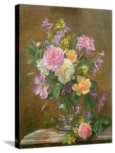 Vase of Flowers-Albert Williams-Stretched Canvas Print