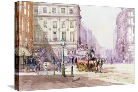 Piccadilly Circus Towards Regent Street, C.1893-John Sutton-Stretched Canvas Print