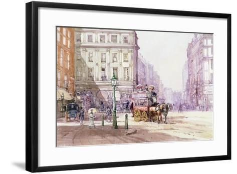 Piccadilly Circus Towards Regent Street, C.1893-John Sutton-Framed Art Print