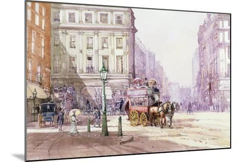Piccadilly Circus Towards Regent Street, C.1893-John Sutton-Mounted Giclee Print