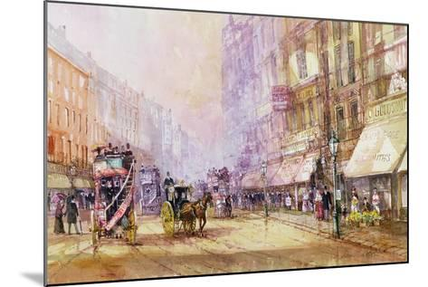 Victorian Afternoon, Regent Street, C.1885-John Sutton-Mounted Giclee Print