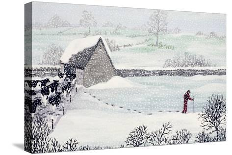 Cotswold Farm in Winter-Maggie Rowe-Stretched Canvas Print