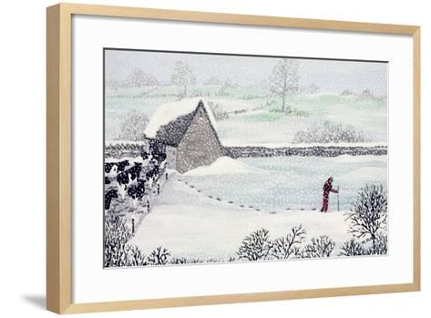 Cotswold Farm in Winter-Maggie Rowe-Framed Art Print