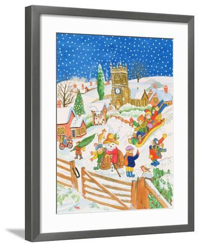 Christmas Eve in the Village-Tony Todd-Framed Art Print
