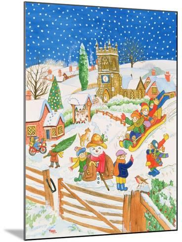 Christmas Eve in the Village-Tony Todd-Mounted Giclee Print