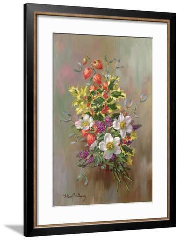 A Yuletide Posy-Albert Williams-Framed Art Print