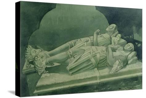 Effigies, Winchelsea Church-Osmund Caine-Stretched Canvas Print