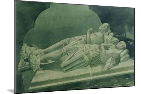 Effigies, Winchelsea Church-Osmund Caine-Mounted Giclee Print