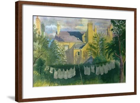 Washing at No. 25, Kingston-Osmund Caine-Framed Art Print