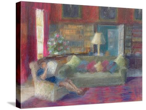 Library at Thorpeperrow-Karen Armitage-Stretched Canvas Print
