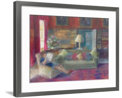 Library at Thorpeperrow-Karen Armitage-Framed Art Print