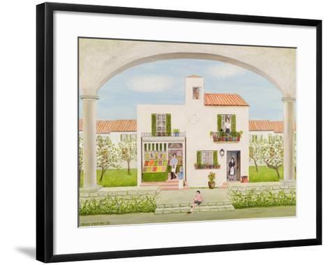 The Spanish Greengrocer, 1981-Mark Baring-Framed Art Print