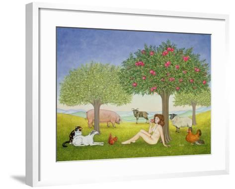 An Apple a Day, Triptych Part Three-Ditz-Framed Art Print