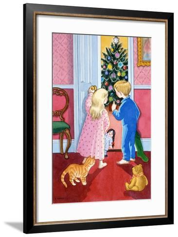 Look at the Christmas Tree-Lavinia Hamer-Framed Art Print