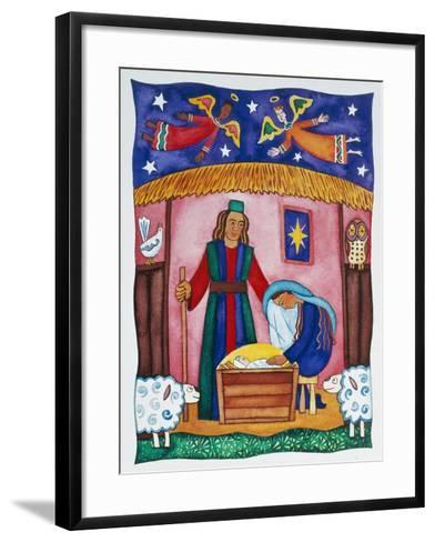 Nativity with Angels-Cathy Baxter-Framed Art Print