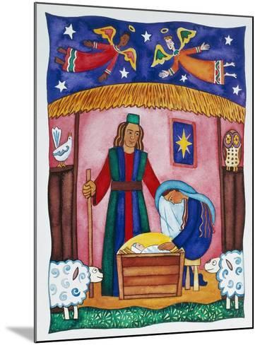 Nativity with Angels-Cathy Baxter-Mounted Giclee Print