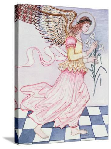Angel with Tiger Lily, 1995-Gillian Lawson-Stretched Canvas Print