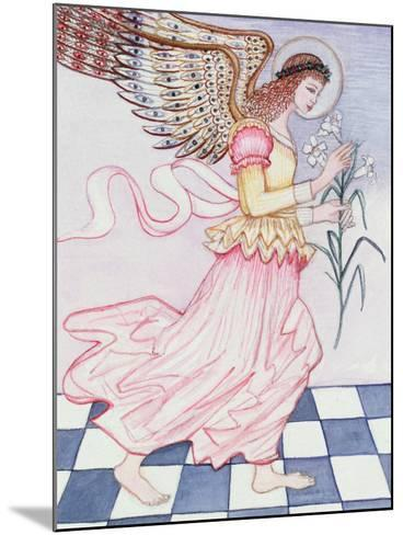 Angel with Tiger Lily, 1995-Gillian Lawson-Mounted Giclee Print