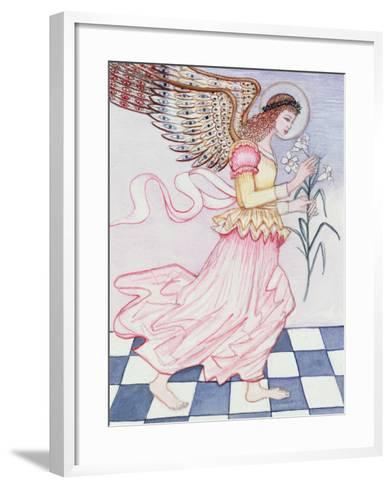 Angel with Tiger Lily, 1995-Gillian Lawson-Framed Art Print