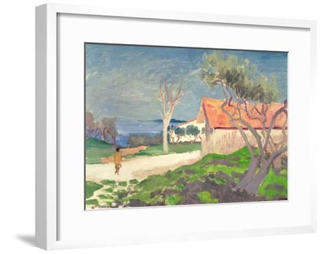 Sketch at Martigues-Augustus Edwin John-Framed Art Print