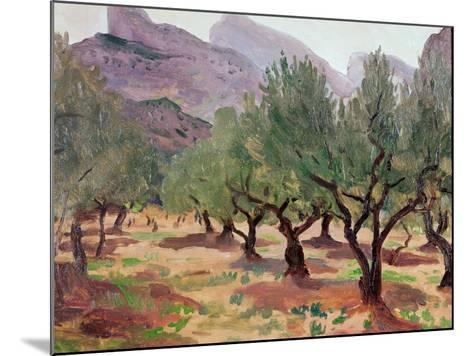Olives under the Alpilles-Augustus Edwin John-Mounted Giclee Print