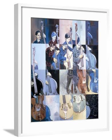 Paula Gardiner, Jazz Bassist, 1998-Huw S. Parsons-Framed Art Print