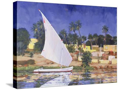 Egypt Blue-Clive Metcalfe-Stretched Canvas Print