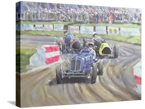The First Race at the Goodwood Revival, 1998-Clive Metcalfe-Stretched Canvas Print