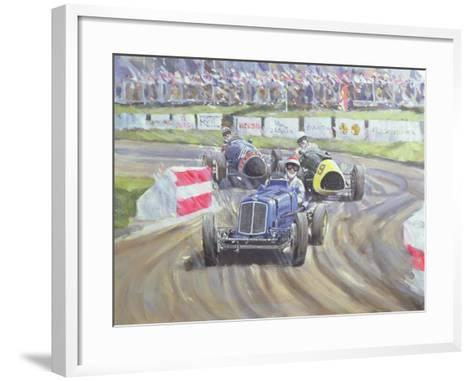 The First Race at the Goodwood Revival, 1998-Clive Metcalfe-Framed Art Print