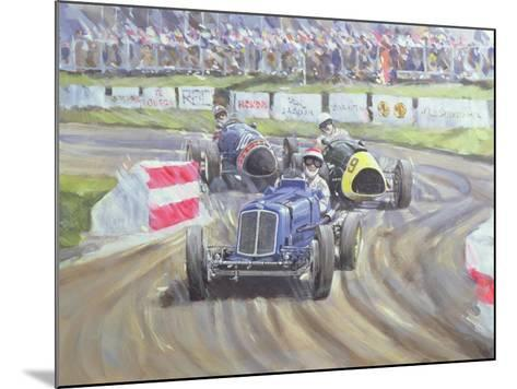 The First Race at the Goodwood Revival, 1998-Clive Metcalfe-Mounted Giclee Print