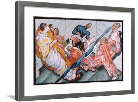 Followers of Krishna, 1996-Alek Rapoport-Framed Art Print